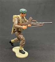 MTF WWII - Deluxe BRITISH BREN MACHINE GUNNER with Gear - 1:18 Scale Marauder Task Force Action Figure