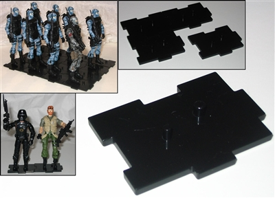 Marauder I.D.S. Action Figure Stands BLACK (50)- Set of 50 (FIFTY)