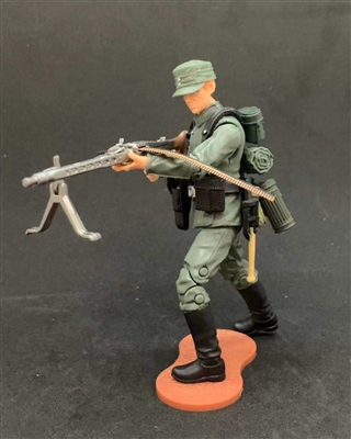 MTF WWII - Deluxe GERMAN MG-42 MACHINE GUNNER with Gear - 1:18 Scale Marauder Task Force Action Figure