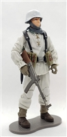 "MTF WWII - Deluxe GERMAN ""WINTER"" WHITE PANZER GRENADIER MP44 GUNNER with Gear - 1:18 Scale Marauder Task Force Action Figure"