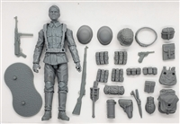 MTF WWII - Deluxe GERMAN SOLID GRAY ARMYMAN with Gear - 1:18 Scale Marauder Task Force Action Figure
