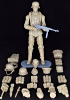 MTF WWII - Deluxe GERMAN SOLID TAN ARMYMAN with Gear - 1:18 Scale Marauder Task Force Action Figure