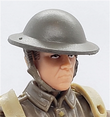"WWII British: MKII ""Brodie"" Helmet - 1:18 Scale Modular MTF Accessory for 3-3/4"" Action Figures"
