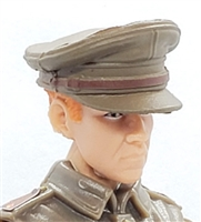 "WWII British: Officer Peaked Visor Cap - 1:18 Scale Modular MTF Accessory for 3-3/4"" Action Figures"