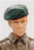 "WWII British: Green Wool Beret - 1:18 Scale Modular MTF Accessory for 3-3/4"" Action Figures"