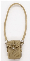 "WWII British:  Satchel with Strap (Haversack / Gasmask Case) - 1:18 Scale MTF Accessory for 3-3/4"" Action Figures"