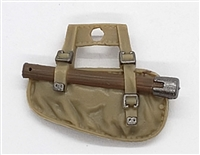 "WWII British:  Entrenching Tool with Case (Shovel) - 1:18 Scale Modular MTF Accessory for 3-3/4"" Action Figures"