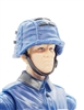 "WWII German: Blue M42  Helmet with CLOTH Cover - 1:18 Scale Modular MTF Accessory for 3-3/4"" Action Figures"