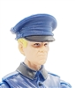 "WWII German: Blue Officer Visor Cap - 1:18 Scale Modular MTF Accessory for 3-3/4"" Action Figures"