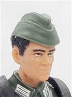 "WWII German: Green Overseas ""Garrison"" Cap - 1:18 Scale Modular MTF Accessory for 3-3/4"" Action Figures"