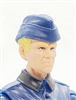 "WWII German: Blue Overseas ""Garrison"" Cap - 1:18 Scale Modular MTF Accessory for 3-3/4"" Action Figures"