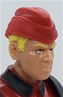"WWII German: Red Overseas ""Garrison"" Cap - 1:18 Scale Modular MTF Accessory for 3-3/4"" Action Figures"