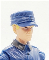 "WWII German: Blue M43 Field Cap - 1:18 Scale Modular MTF Accessory for 3-3/4"" Action Figures"