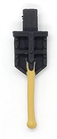 "WWII German:  Entrenching Tool ""Klappspaten"" Shovel - 1:18 Scale Modular MTF Accessory for 3-3/4"" Action Figures"
