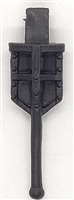 "WWII German:  BLACK Entrenching Tool ""Klappspaten"" Shovel - 1:18 Scale Modular MTF Accessory for 3-3/4"" Action Figures"