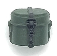 "WWII German:  Green Mess Kit - 1:18 Scale Modular MTF Accessory for 3-3/4"" Action Figures"