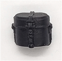 "WWII German:  BLACK Mess Kit - 1:18 Scale Modular MTF Accessory for 3-3/4"" Action Figures"