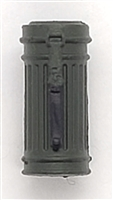 "WWII German:  Green Gasmask Canister Case - 1:18 Scale Modular MTF Accessory for 3-3/4"" Action Figures"