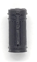 "WWII German:  BLACK Gasmask Canister Case - 1:18 Scale Modular MTF Accessory for 3-3/4"" Action Figures"