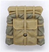 "WWII Japanese: Backpack - 1:18 Scale Modular MTF Accessory for 3-3/4"" Action Figures"