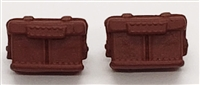 "WWII Japanese:  Large Rifle Ammo Pouches (Set of TWO) - 1:18 Scale Modular MTF Accessories for 3-3/4"" Action Figures"
