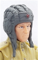 "WWII Russian: GRAY Tanker Hat (Tank Helmet) - 1:18 Scale Modular MTF Accessory for 3-3/4"" Action Figures"
