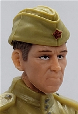 "WWII Russian: Garrison Cap ""Pilotka""- 1:18 Scale Modular MTF Accessory for 3-3/4"" Action Figures"