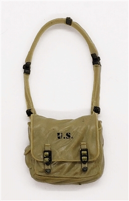"WWII US:  Satchel with Strap (Knapsack / Medic Bag) - 1:18 Scale Modular MTF Accessory for 3-3/4"" Action Figures"