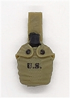 "WWII US:  Canteen with Cover - 1:18 Scale Modular MTF Accessory for 3-3/4"" Action Figures"