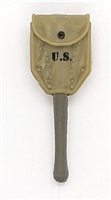 "WWII US Army:  Entrenching Tool with Cover (Shovel) - 1:18 Scale Modular MTF Accessory for 3-3/4"" Action Figures"