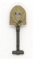 "WWII US Marine:  Entrenching Tool with Cover (Shovel) - 1:18 Scale Modular MTF Accessory for 3-3/4"" Action Figures"