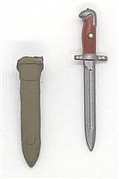 "WWII US:  Bayonet with Sheath - 1:18 Scale Modular MTF Accessory for 3-3/4"" Action Figures"