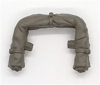 "WWII US Army:  Rolled Up Poncho/Tent (Green) for Backpack - 1:18 Scale Modular MTF Accessory for 3-3/4"" Action Figures"