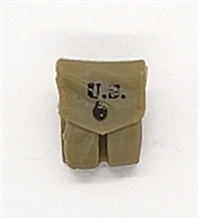 "WWII US:  Pistol Ammo Pouches / M1 Carbine Ammo Pouches - 1:18 Scale Modular MTF Accessory for 3-3/4"" Action Figures"