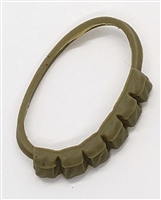 "WWII US: Rifle Ammunition Bandolier - 1:18 Scale Modular MTF Accessory for 3-3/4"" Action Figures"