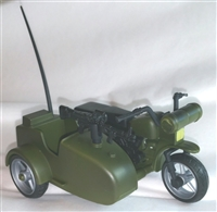 MOTORCYCLE with SIDECAR - 1:18 Scale Vehicle for 3 3/4 Inch Action Figures