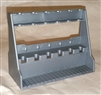 Large 6 Slot Rifle Rack - 1:18 Scale Accessory for 3 3/4 Inch Action Figures