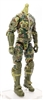 "MTF Male Trooper Body WITHOUT Head OLIVE GREEN CAMO ""Ambush-Ops"" Armor Leg Version BASIC - 1:18 Scale Marauder Task Force Action Figure"