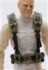 "Male Vest: Harness Rig OLIVE GREEN Version - 1:18 Scale Modular MTF Accessory for 3-3/4"" Action Figures"