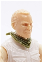 "Headgear: Standard Neck Scarf OLIVE GREEN Version - 1:18 Scale Modular MTF Accessory for 3-3/4"" Action Figures"