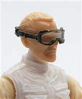 "Headgear: Standard Goggles with Strap OLIVE GREEN Version - 1:18 Scale Modular MTF Accessory for 3-3/4"" Action Figures"