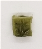 "Ammo Pouch: Empty OLIVE GREEN Version - 1:18 Scale Modular MTF Accessory for 3-3/4"" Action Figures"