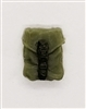 "Pocket: Large Size OLIVE GREEN Version - 1:18 Scale Modular MTF Accessory for 3-3/4"" Action Figures"