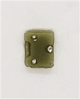 "Armor Panel: Small Size OLIVE GREEN Version - 1:18 Scale Modular MTF Accessory for 3-3/4"" Action Figures"