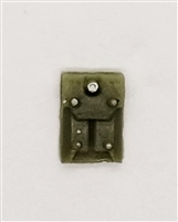 "Armor Panel: Large Size OLIVE GREEN Version - 1:18 Scale Modular MTF Accessory for 3-3/4"" Action Figures"