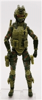 "DELUXE MTF Female Valkyries OLIVE GREEN CAMO ""Ambush-Ops"" Version - 1:18 Scale Marauder Task Force Action Figure"