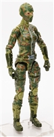"MTF Female Valkyries with Balaclava Head OLIVE GREEN CAMO ""Ambush-Ops"" Version BASIC - 1:18 Scale Marauder Task Force Action Figure"