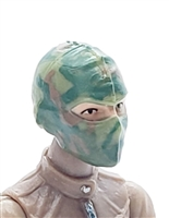 "Female Head: Balaclava Mask OLIVE GREEN CAMO Version - 1:18 Scale MTF Valkyries Accessory for 3-3/4"" Action Figures"