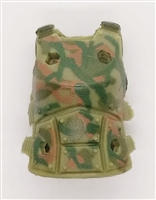 "Female Vest: Armor Type OLIVE GREEN CAMO Version - 1:18 Scale Modular MTF Valkyries Accessory for 3-3/4"" Action Figures"