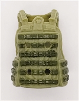 "Female Vest: Utility Type OLIVE GREEN Version - 1:18 Scale Modular MTF Valkyries Accessory for 3-3/4"" Action Figures"